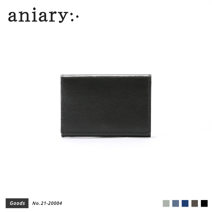 【aniary|アニアリ】カードケース Inheritance Leather 21-20004 Black