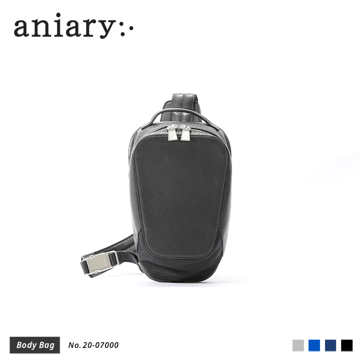 【aniary|アニアリ】ボディバッグ Refine Leather 20-07000 Black