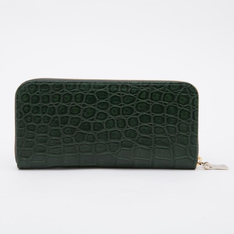 aniaryウォレット リアルクロコレザー Wallet 90-20002 Green グリーン