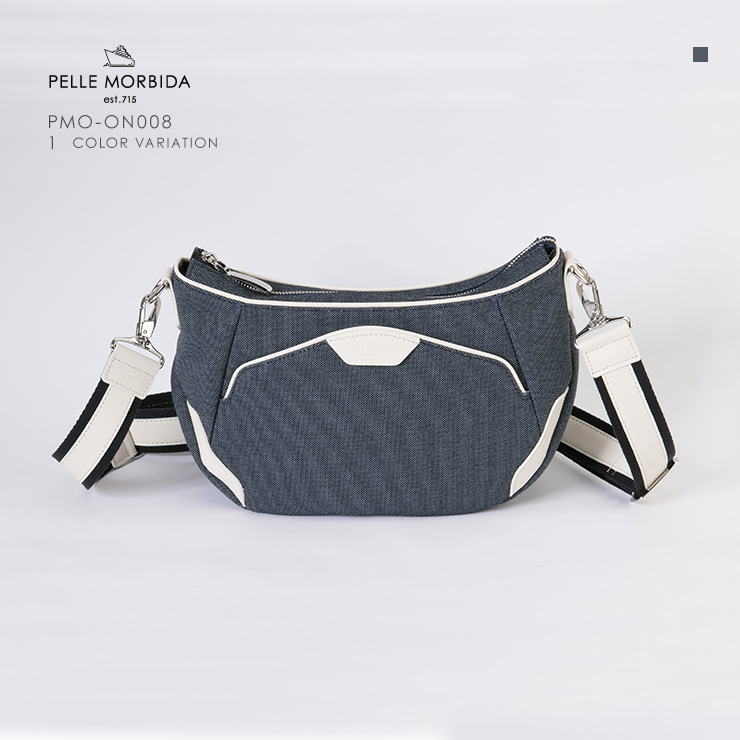 PELLE MORBIDA ショルダーバッグ shoulderbag pmo-on008 Chambray / White