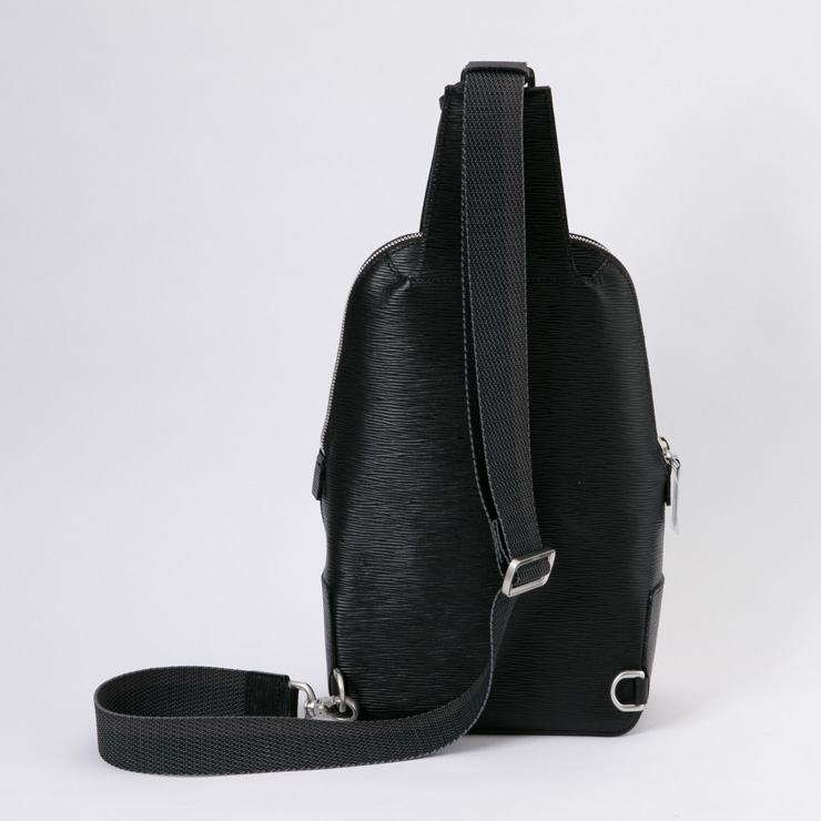 aniary ボディバッグ Wave Leather 牛革 Bodybag 16-07000-bk