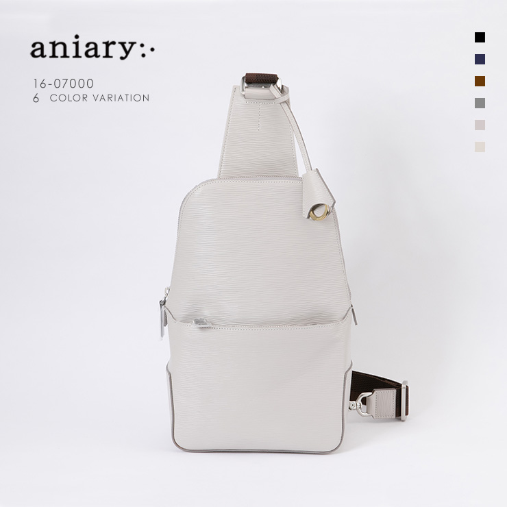 aniary ボディバッグ Wave Leather 牛革 Bodybag 16-07000-rgy