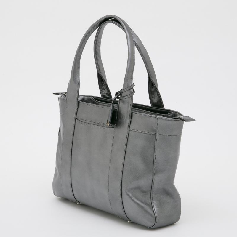 aniary トートバッグ Antique leather 牛革 Totebag 01-02013 Steel black