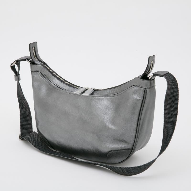 aniary ショルダーバッグ Antique leather 牛革 Shoulderbag 01-03008 Steel black