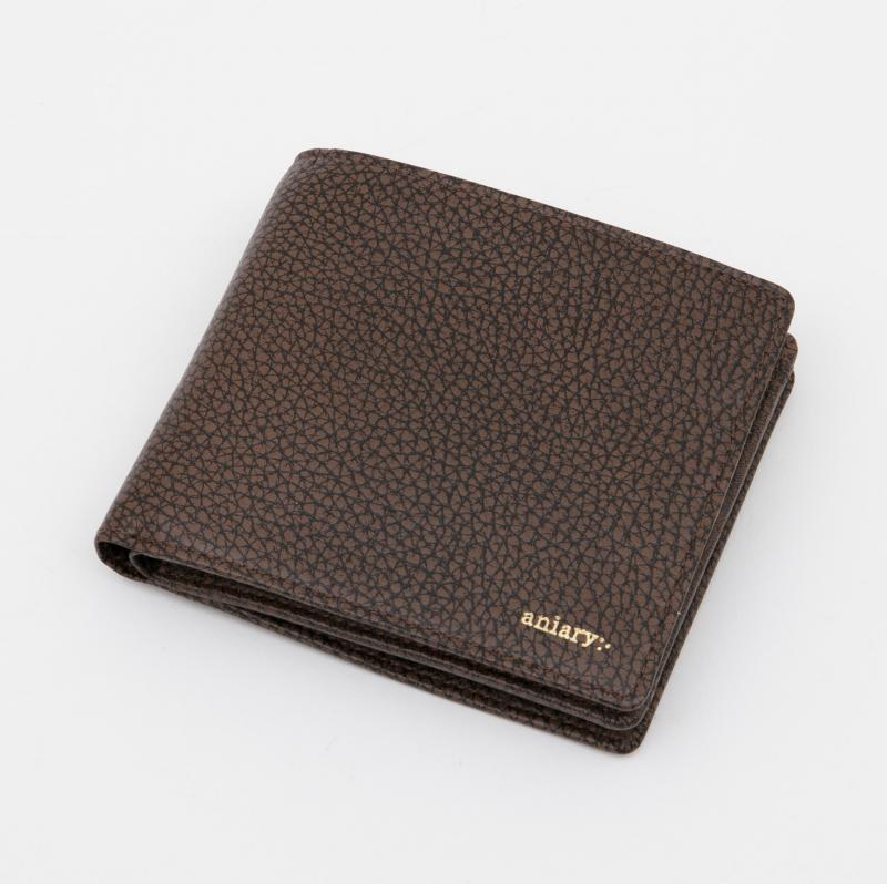aniaryウォレット Grind Leather 牛革 Wallet 15-20000 ブラウン Brown
