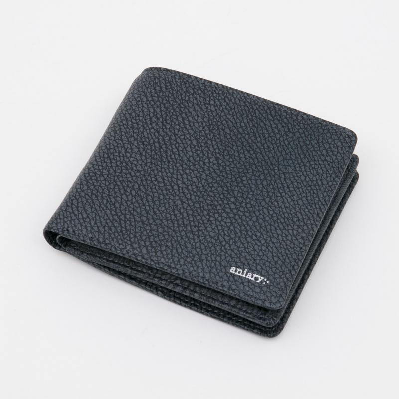 aniaryウォレット Grind Leather 牛革 Wallet 15-20000 ネイビー Navy
