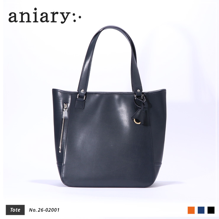 【aniary|アニアリ】トートバッグ Axis Leather 26-02001 Navy