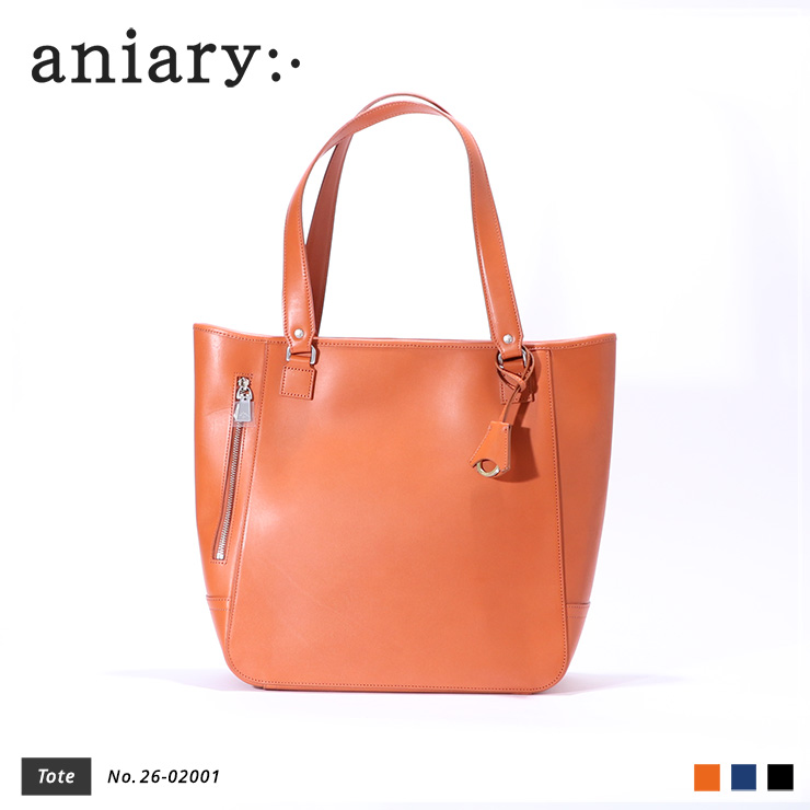 【aniary|アニアリ】トートバッグ Axis Leather 26-02001 Chrome Orange