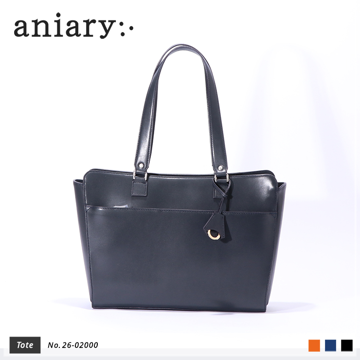 【aniary|アニアリ】トートバッグ Axis Leather 26-02000 Navy