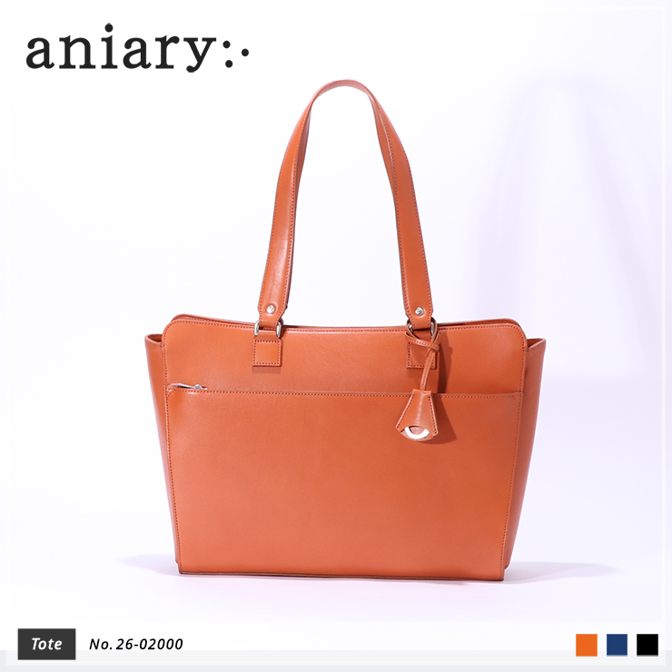 【aniary|アニアリ】トートバッグ Axis Leather 26-02000 Chrome Orange