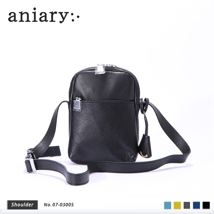 aniary ショルダーバッグ Shrink leather 牛革 Shoulderbag 07-03005-bk