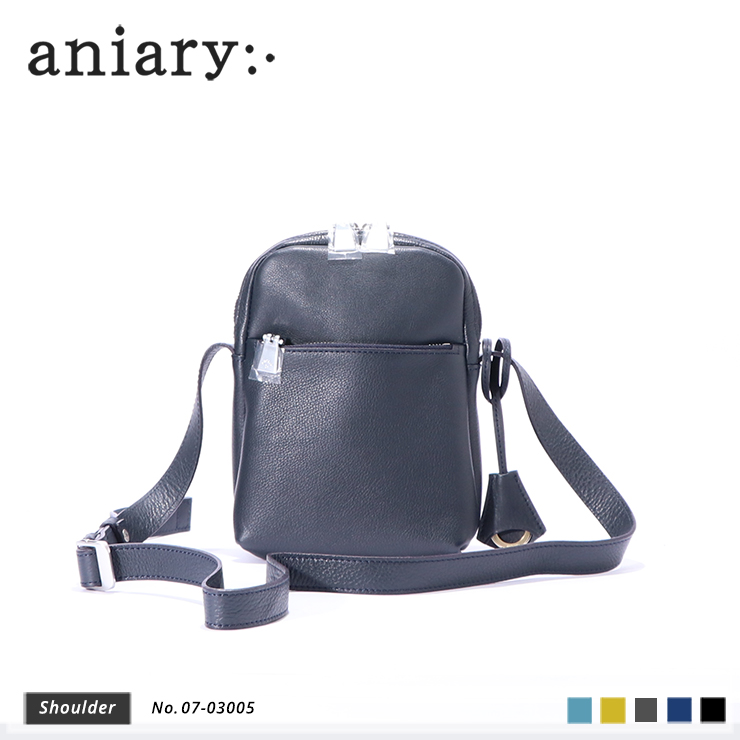 aniary ショルダーバッグ Shrink leather 牛革 Shoulderbag 07-03005-nv