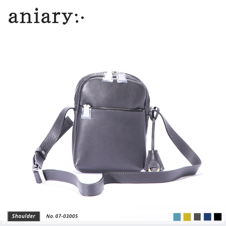 aniary ショルダーバッグ Shrink leather 牛革 Shoulderbag 07-03005-cgy