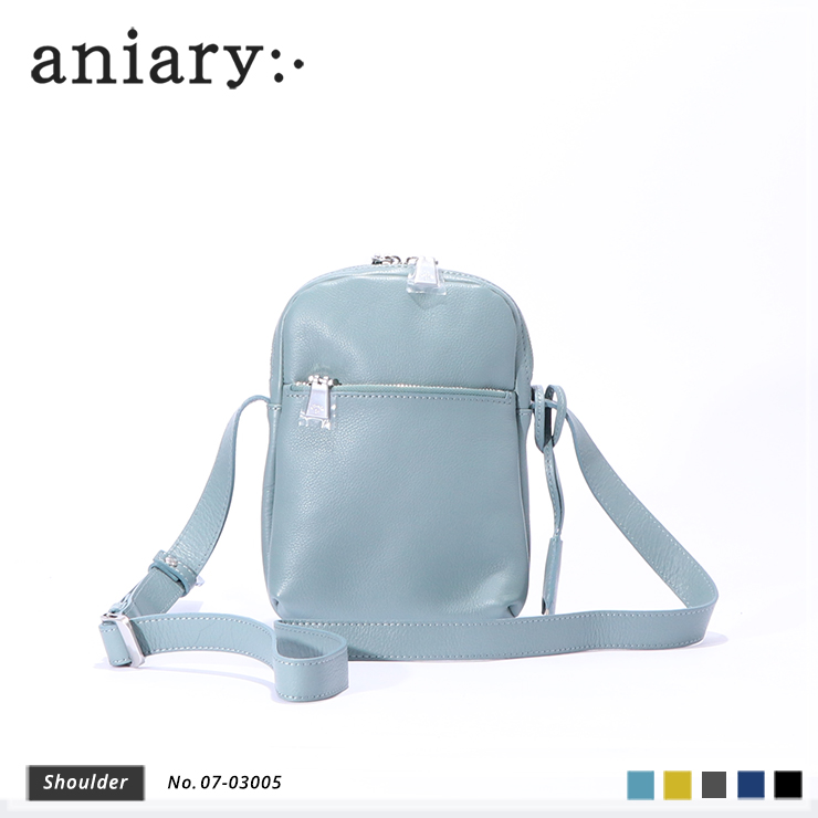 aniary ショルダーバッグ Shrink leather 牛革 Shoulderbag 07-03005-pbl