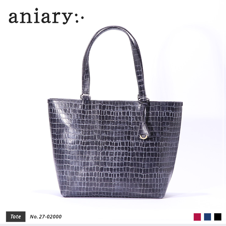【aniary|アニアリ】トートバッグ Tint Embossing Leather 27-02000 Navy
