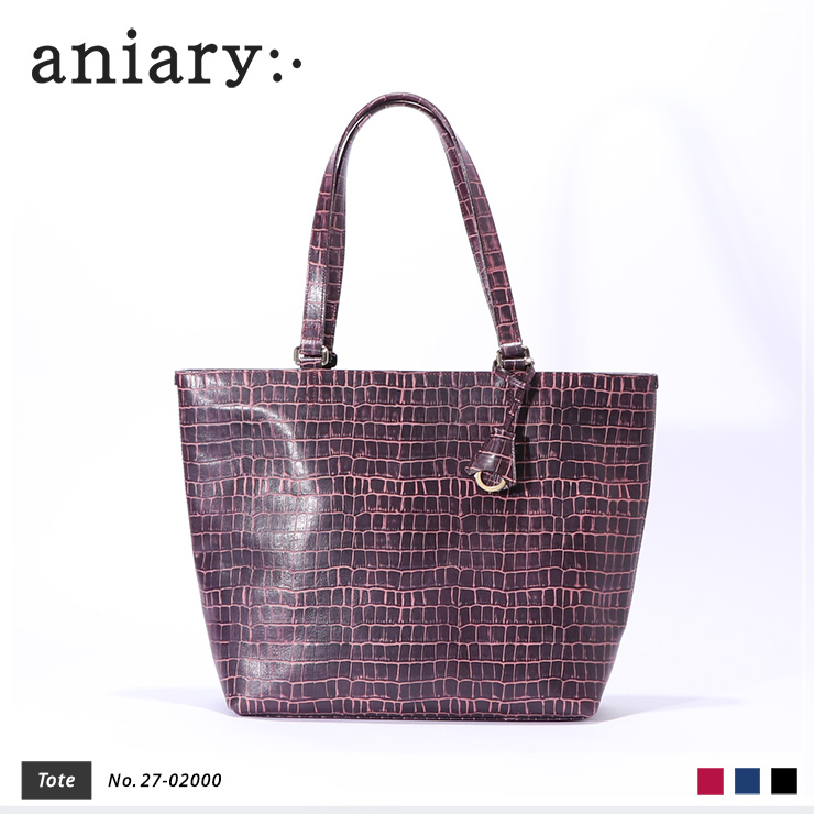【aniary|アニアリ】トートバッグ Tint Embossing Leather 27-02000 Bordeaux