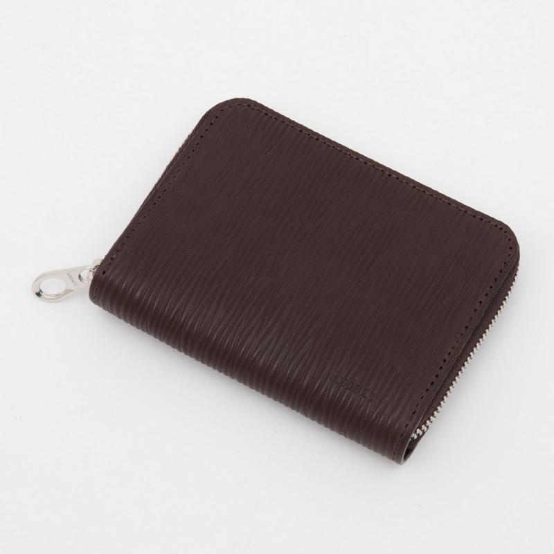 aniaryコインケース Wave Leather 牛革 Coin Case 16-20011 ブラウン Brown