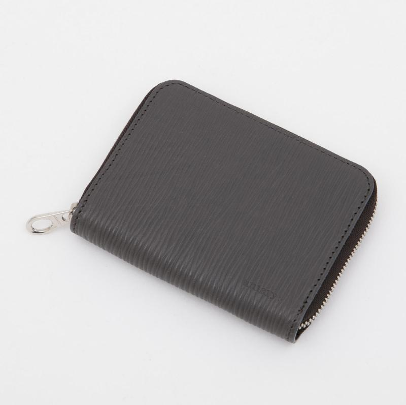 aniaryコインケース Wave Leather 牛革 Coin Case 16-20011 グレー Gray