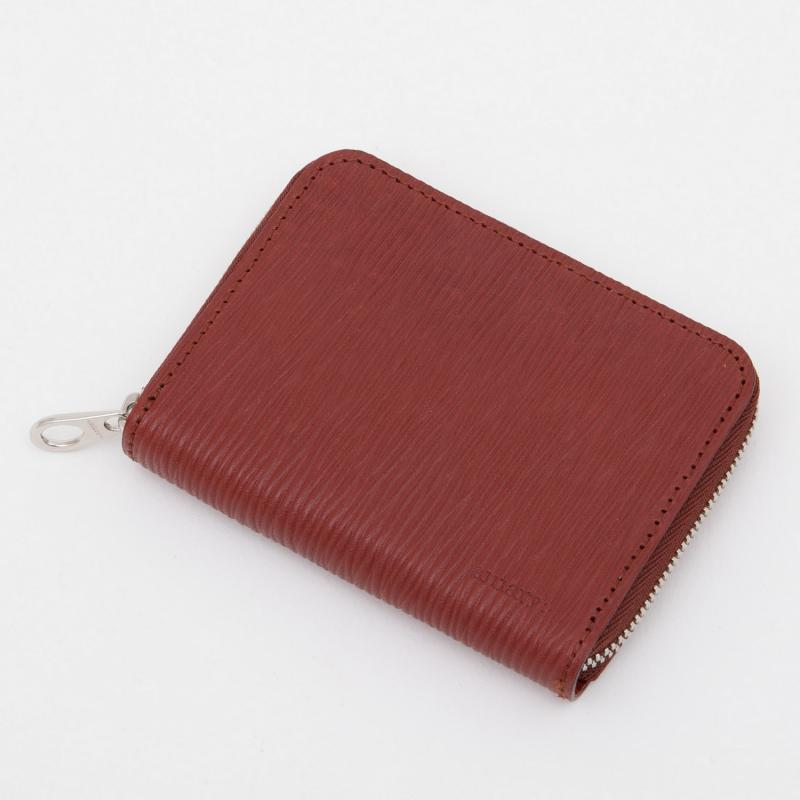 aniaryコインケース Wave Leather 牛革 Coin Case 16-20011 レッド Red