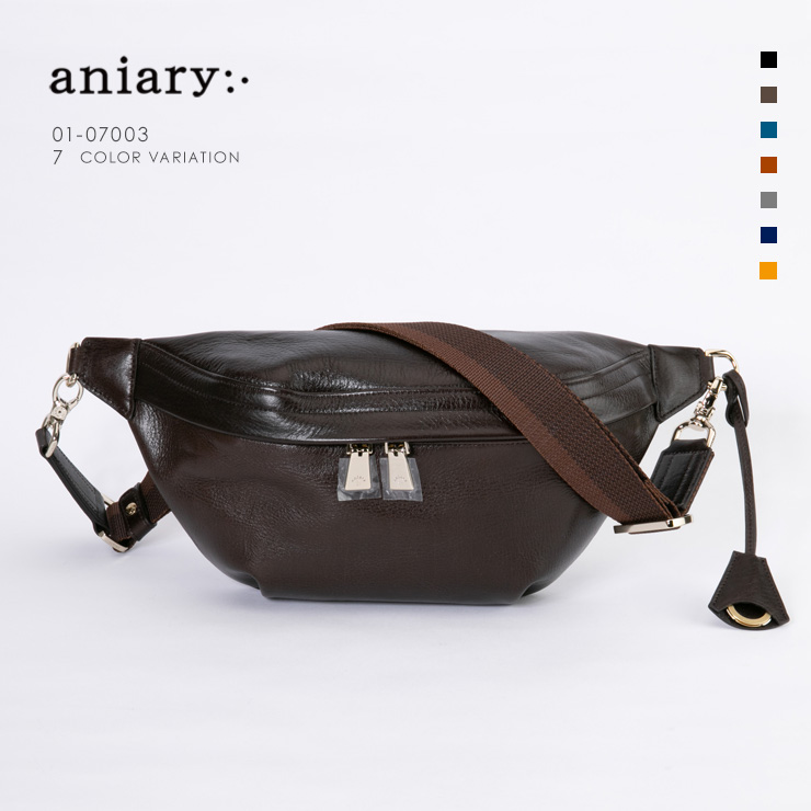 aniary ボディバッグ Antique Leather 牛革 Bodybag 01-07003-dbr