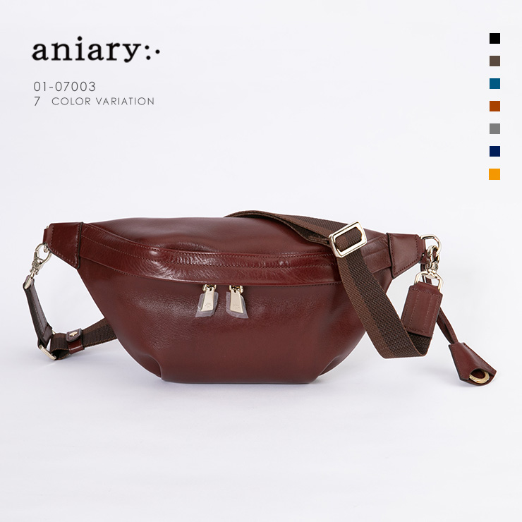 aniary ボディバッグ Antique Leather 牛革 Bodybag 01-07003-ma