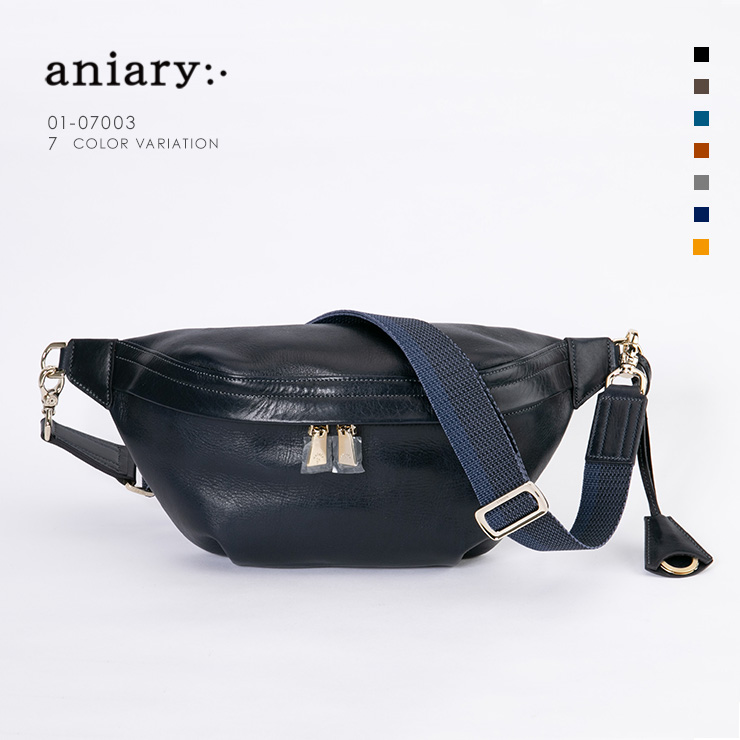 aniary ボディバッグ Antique Leather 牛革 Bodybag 01-07003-dbl