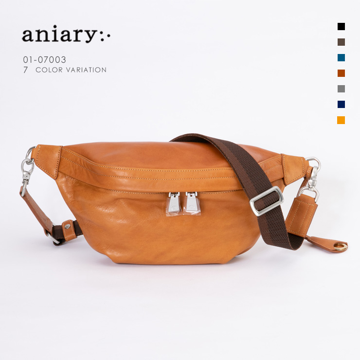 aniary ボディバッグ Antique Leather 牛革 Bodybag 01-07003-ca