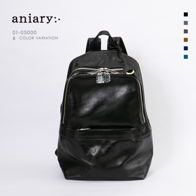 aniary リュックサック Antique Leather 牛革 Backpack 01-05000-bk
