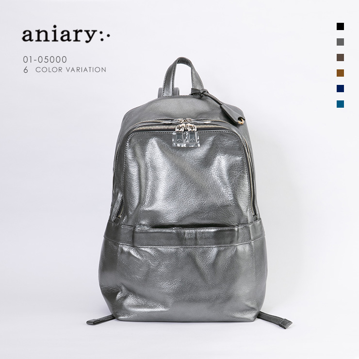 aniary リュックサック Antique Leather 牛革 Backpack 01-05000-sbk