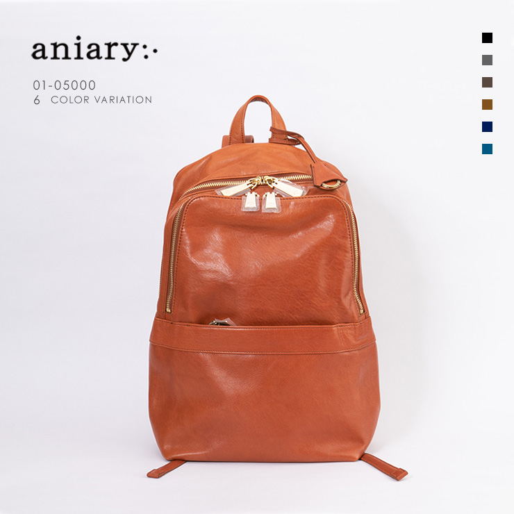 aniary リュックサック Antique Leather 牛革 Backpack 01-05000-rbr