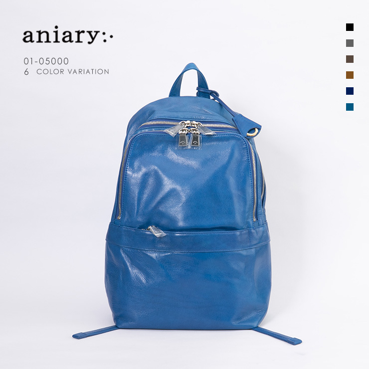 aniary リュックサック Antique Leather 牛革 Backpack 01-05000-bl