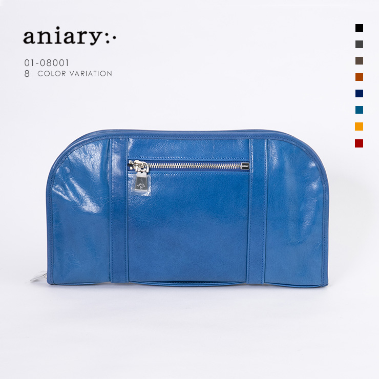 aniary クラッチ Antique Leather 牛革 Clutch 01-08001-bl