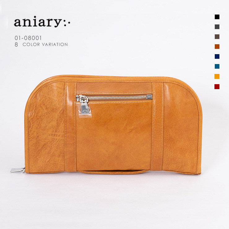 aniary クラッチ Antique Leather 牛革 Clutch 01-08001-ca