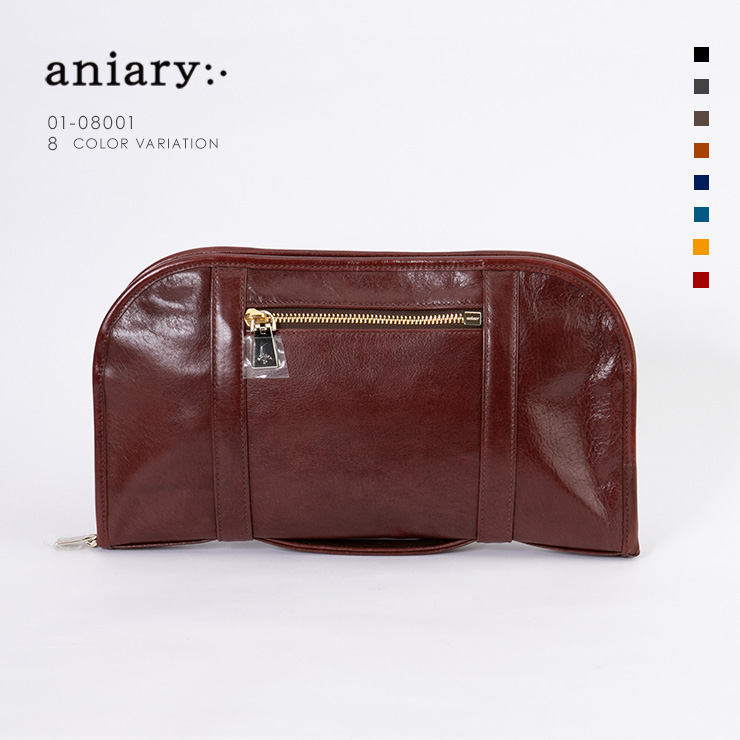 aniary クラッチ Antique Leather 牛革 Clutch 01-08001-ma