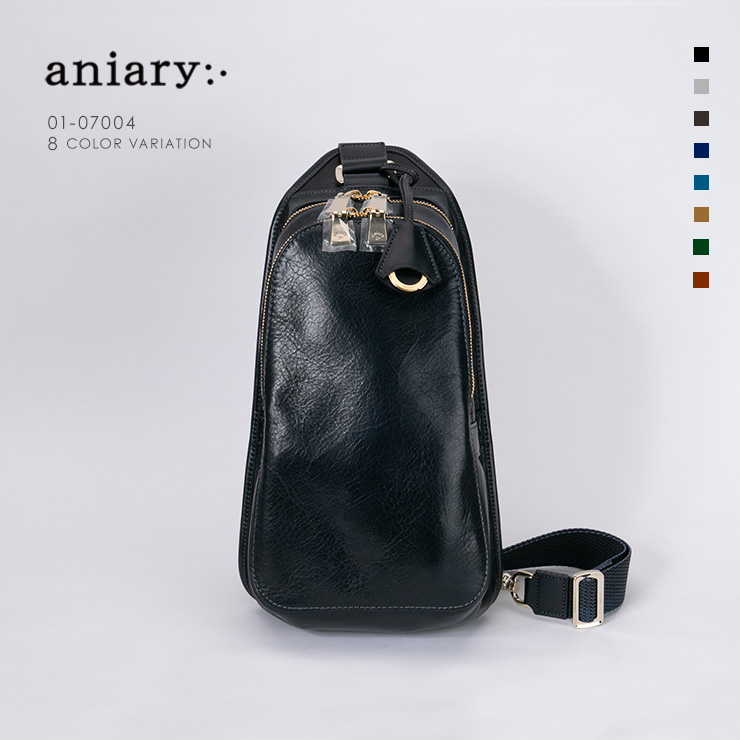 aniary ボディバッグ Antique Leather 牛革 Bodybag 01-07004-dbl
