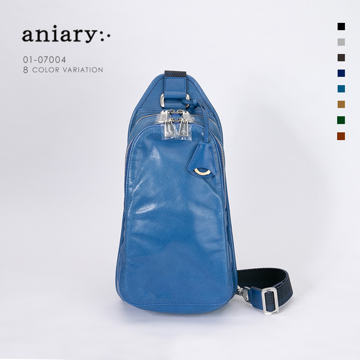 aniary ボディバッグ Antique Leather 牛革 Bodybag 01-07004-bl