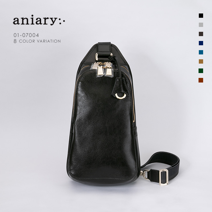 aniary ボディバッグ Antique Leather 牛革 Bodybag 01-07004-dgn