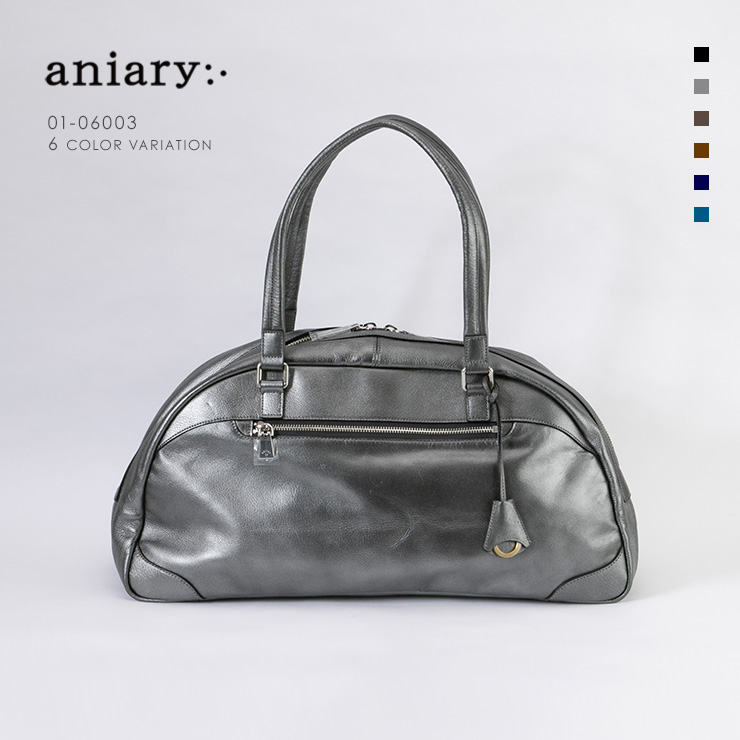 aniary ボストンバッグ Antique Leather 牛革 Boston Bag 01-06003-sbk