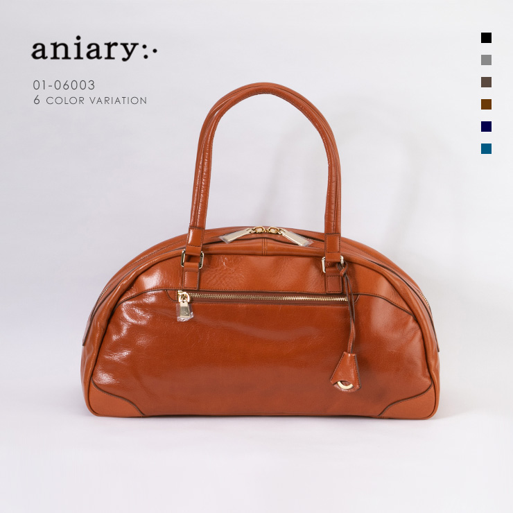 aniary ボストンバッグ Antique Leather 牛革 Boston Bag 01-06003-rbr