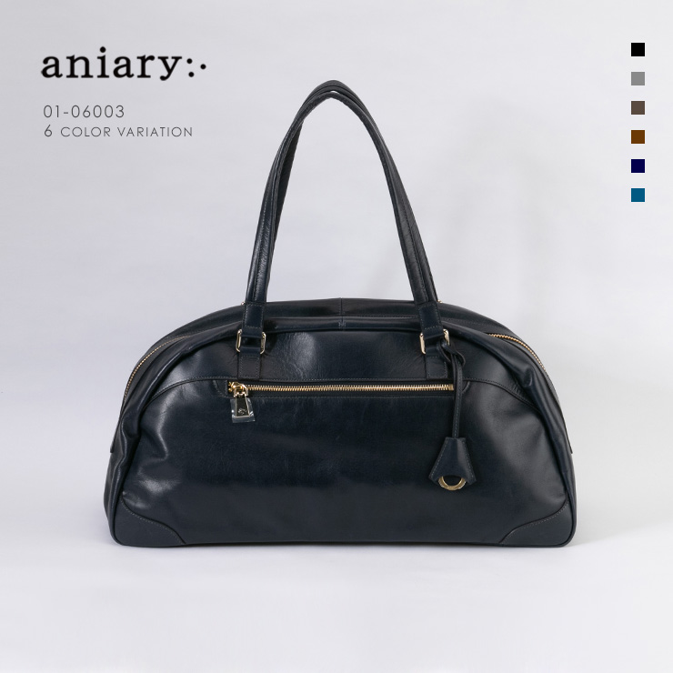 aniary ボストンバッグ Antique Leather 牛革 Boston Bag 01-06003-dbl