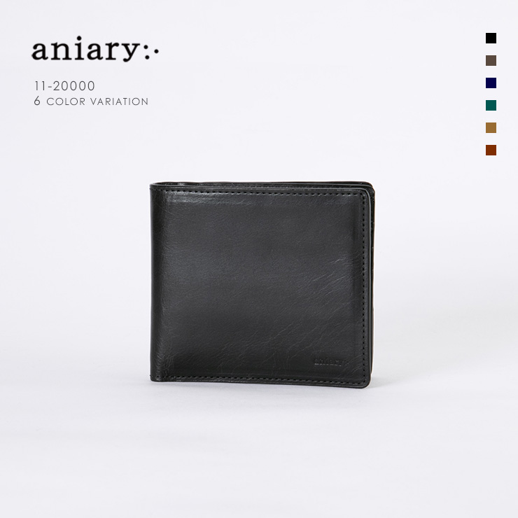 aniary ウォレット Ideal Leather 牛革 GOODS 11-20000-bk
