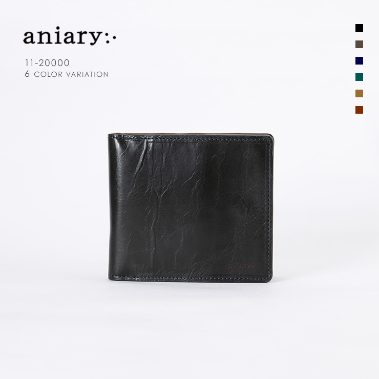aniary ウォレット Ideal Leather 牛革 GOODS 11-20000-nv