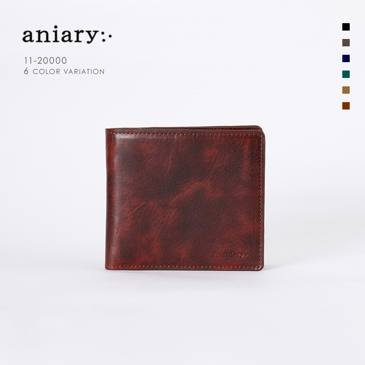 aniary ウォレット Ideal Leather 牛革 GOODS 11-20000-rd