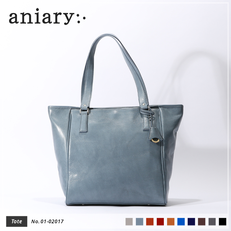 【aniary|アニアリ】トートバッグ Antique Leather 01-02017 Pale Blue