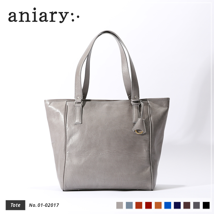 【aniary|アニアリ】トートバッグ Antique Leather 01-02017 Light Gray