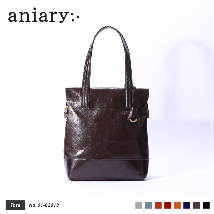 【aniary|アニアリ】トートバッグ Antique Leather 01-02018 Dark Brown