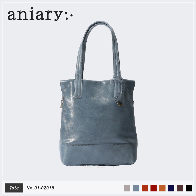 【aniary|アニアリ】トートバッグ Antique Leather 01-02018 Pale Blue