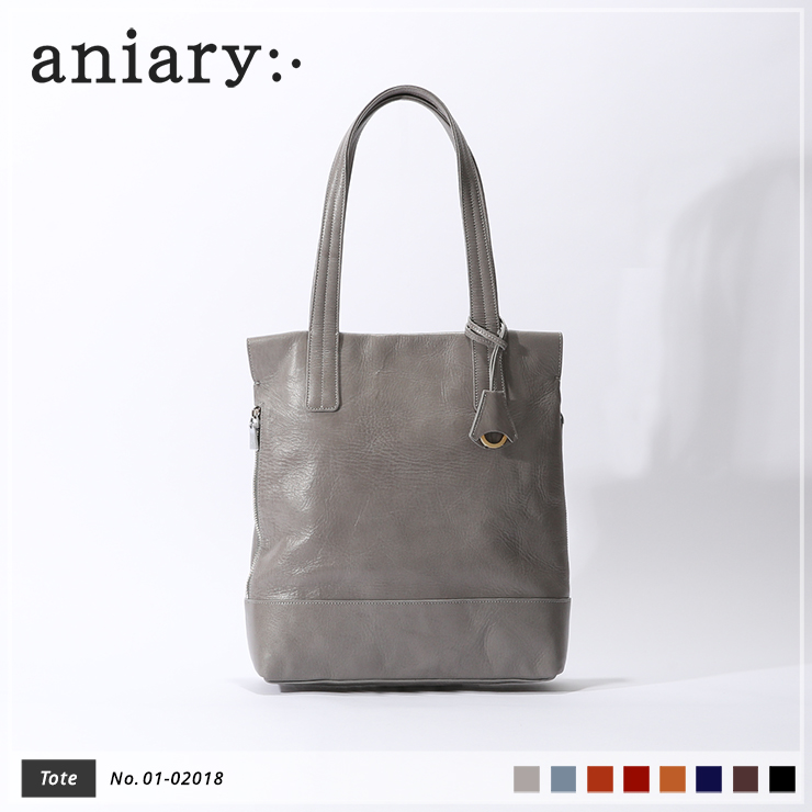 【aniary|アニアリ】トートバッグ Antique Leather 01-02018 Light Gray