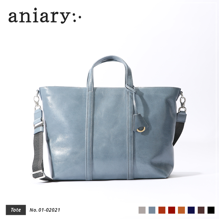 【aniary|アニアリ】トートバッグ Antique Leather 01-02021 Pale Blue