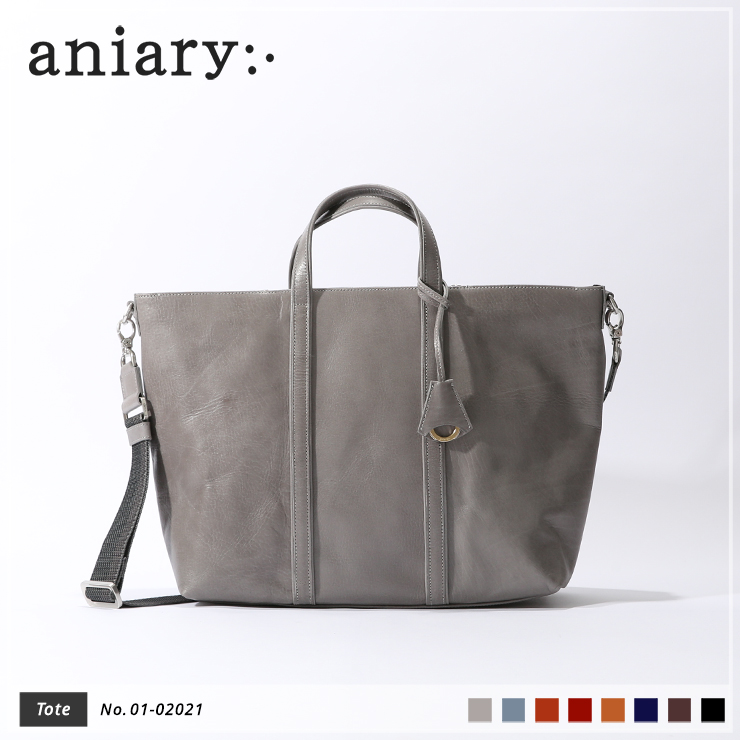【aniary|アニアリ】トートバッグ Antique Leather 01-02021 Light Gray